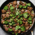 Miso Marinated Steak Tips